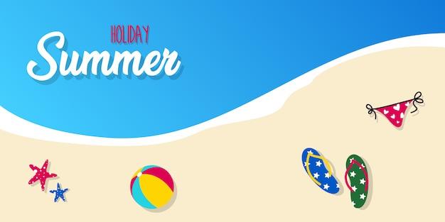 Férias de verão feliz na praia