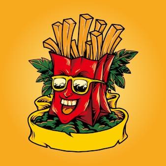 Férias de verão felizes em fast food