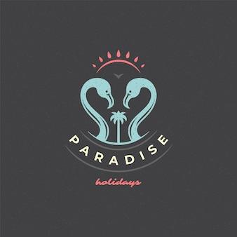 Férias de verão logotipo tipografia slogan design