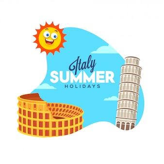 Férias de verão na itália