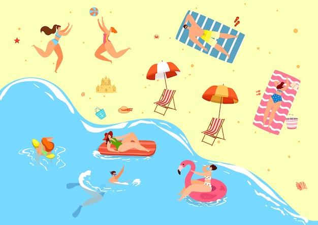 Férias de verão na praia para pessoas