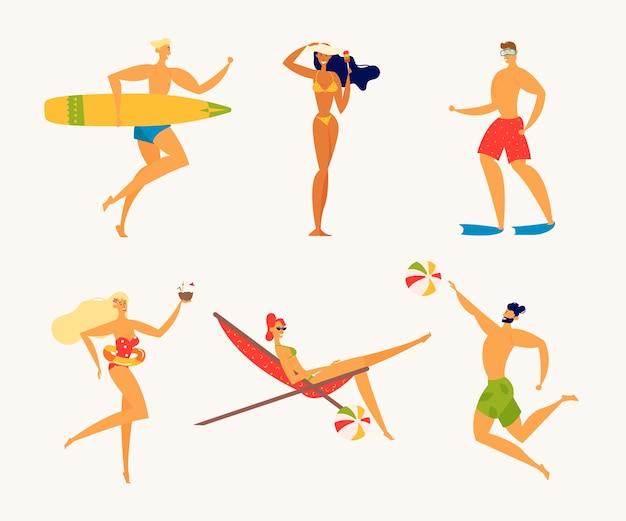 Férias de verão no mar férias de verão Vetor Premium