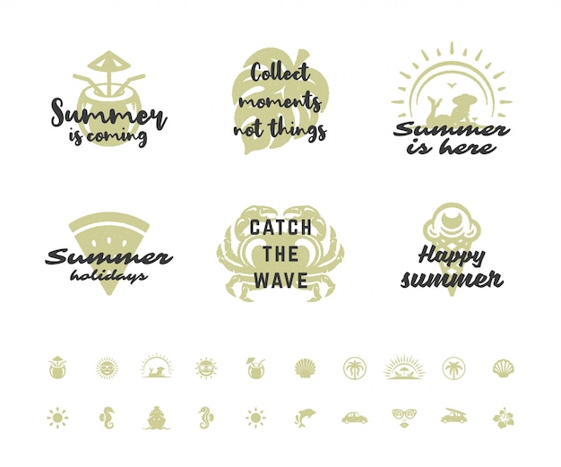Férias de verão tipografia citações inspiradoras