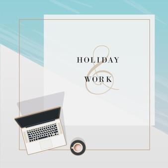 Férias e trabalho summerish background