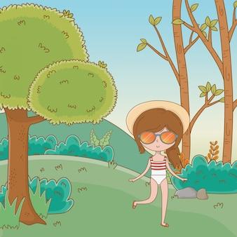 Férias e verão ao ar livre