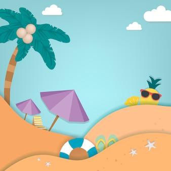 Férias tropicais de verão