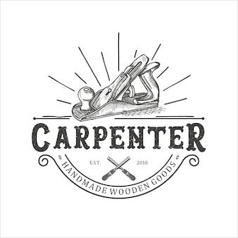 Ferramenta de barbear de madeira, carpinteiro