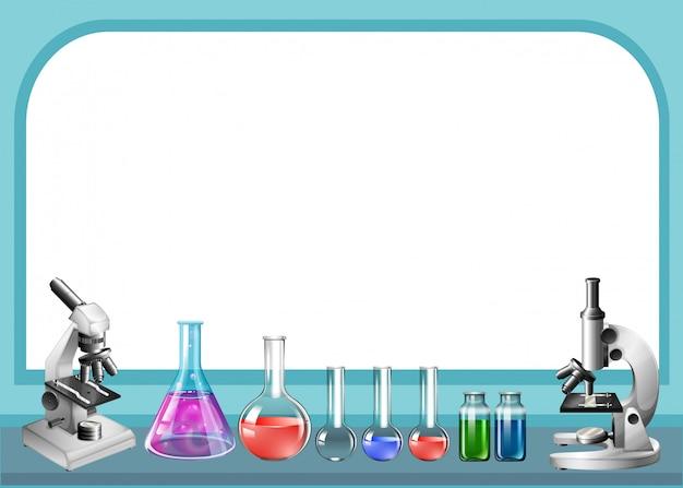 Ferramenta de ciência e quadro