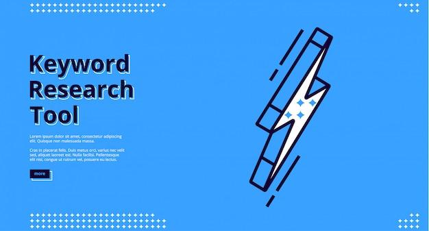 Ferramenta de pesquisa de palavras-chave em branco, design de sites