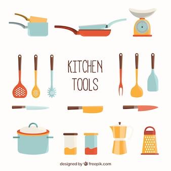 Ferramentas da cozinha coleção