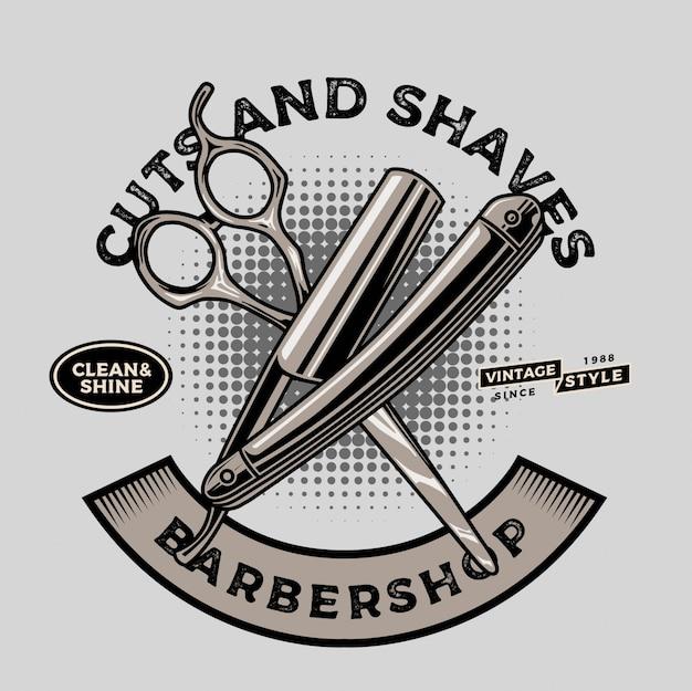 Ferramentas de barbeiro faca e tesoura