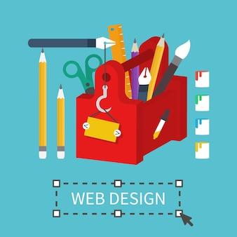 Ferramentas de design gráfico da web.