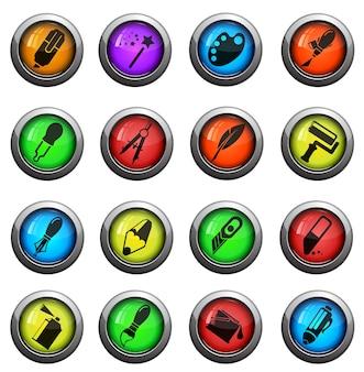 Ferramentas de design. simplesmente símbolo para ícones da web