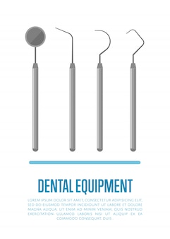 Ferramentas de equipamentos médicos para tratamento dentário de dentes