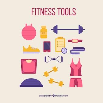 Ferramentas de fitness para mulheres pacote