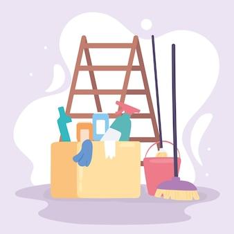 Ferramentas de limpeza doméstica