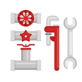 Ferramentas de linha de encanamento set icons