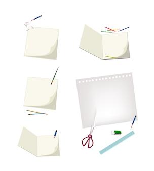 Ferramentas de ofício, deitado em uma página em branco