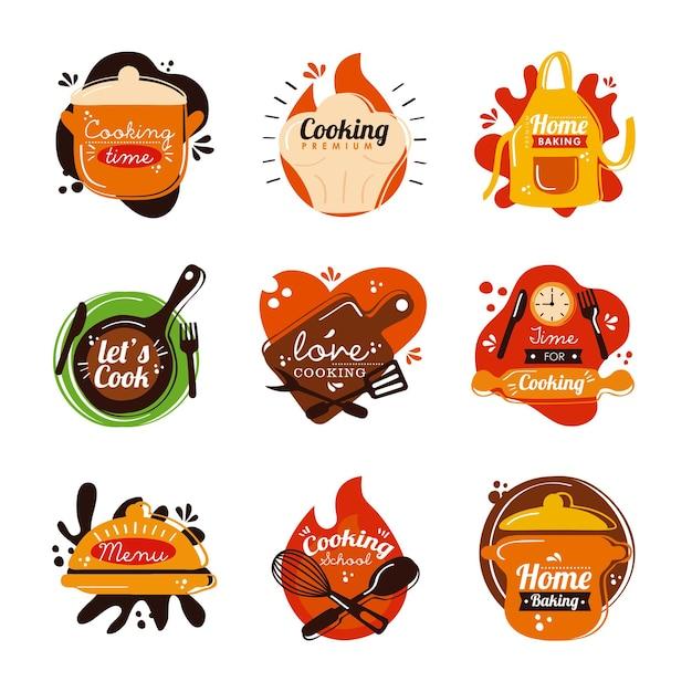 Ferramentas e inscrições de utensílios de cozinha