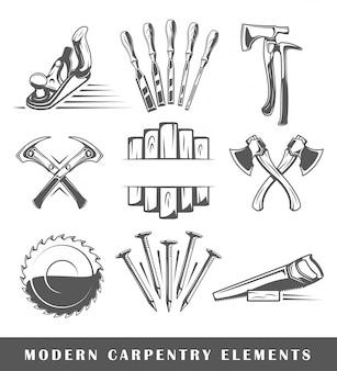 Ferramentas modernas de carpintaria