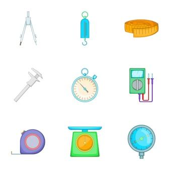 Ferramentas para diferentes tipos de conjunto de ícones de cálculos