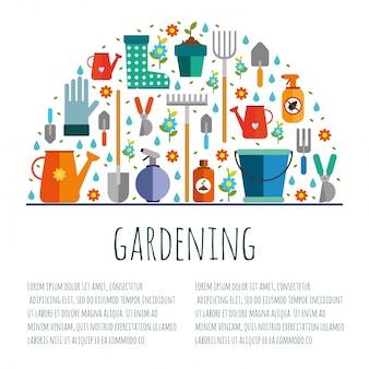 Ferramentas para jardinagem,