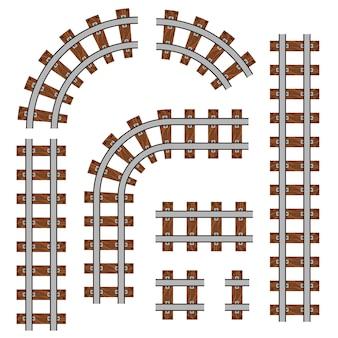 Ferrovia curva, trilhos retos.