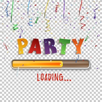 Festa carregando confete e fitas coloridas