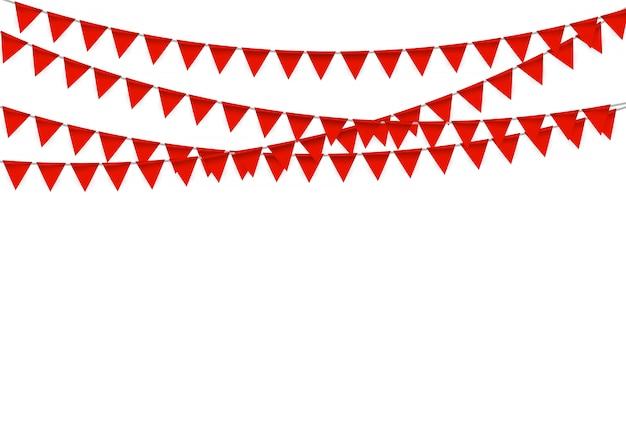 Festa com bandeiras