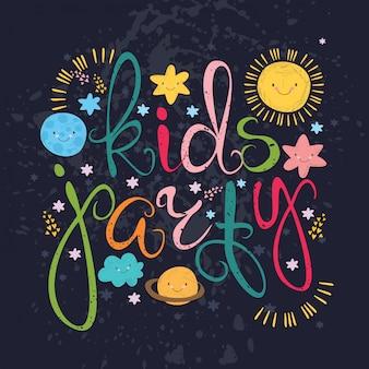 Festa das crianças com sistema solar