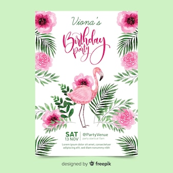 Festa de aniversário com letras Vetor Premium