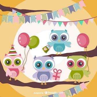 Festa de aniversário das corujas