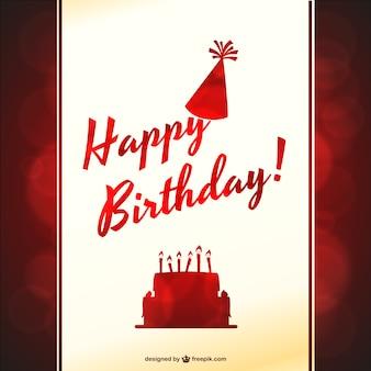 Festa de aniversário tipográfica vetor