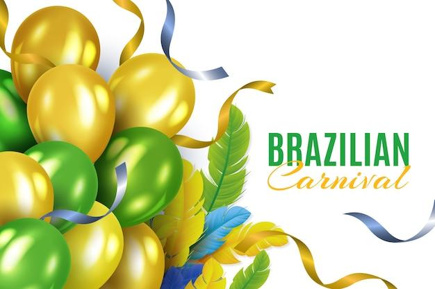 Festa de carnaval brasileira realista