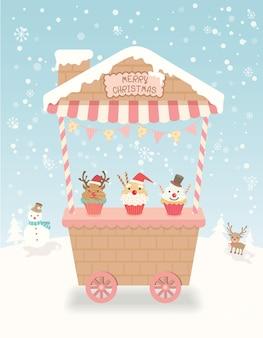 Festa de carrinho de natal
