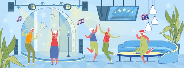 Festa de dança para idosos idosos.