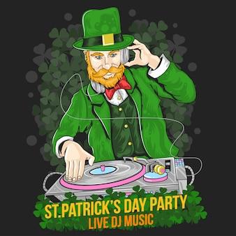 Festa de dj do dia de st.patrick