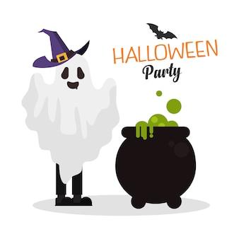 Festa de fantasia de crianças de halloween