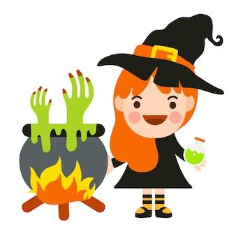 Festa de fantasia de crianças de halloween.