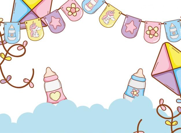 Festa de flâmulas de bebê