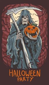 Festa de halloween assustador
