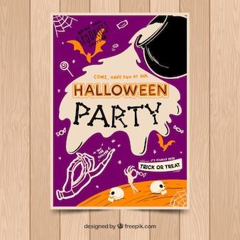 Festa de halloween com elementos assustadores