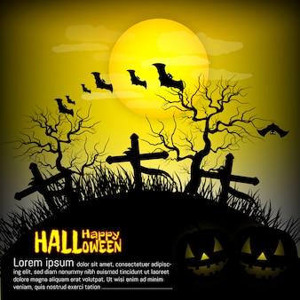 Festa de halloween, grave, vetor de fundo