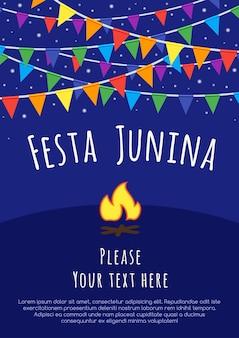 Festa de junho do brasil. feriado latino-americano, a festa junina do brasil.