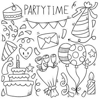 Festa de mão desenhada doodles elementos