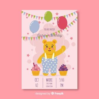 Festa de modelo de convite de aniversário
