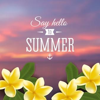 Festa de verão. cartaz de modelo. ilustração