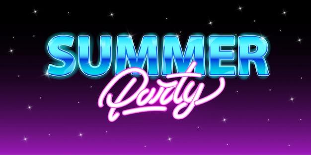 Festa de verão em estilo neon.