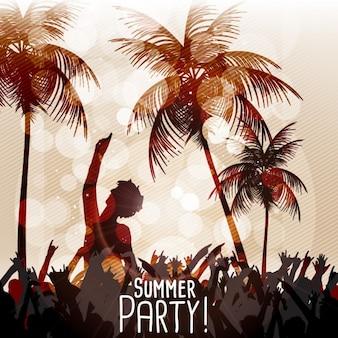Festa de verão na praia