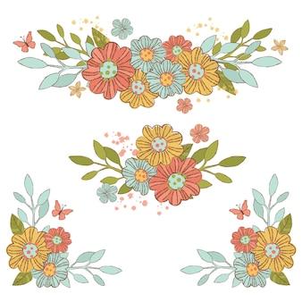 Festa decorativa da flor do ramalhete da mola